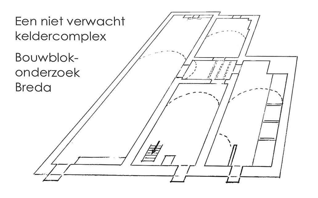Ergens aan een Bredase hoofdstraat: drie middeleeuwse huizen aaneen gegroeid